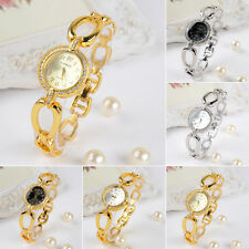 Luxury Wrist Watch Womens Bling Crystal Teardrop Stainless Steel Quartz Analog