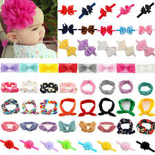 Cute Kids Baby Girls Hair Accessories Bow Knot Flower Headwear Headband Headwrap