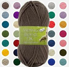 KING COLE  MERINO BLEND DOUBLE KNITTING 100% PURE NEW WOOL SUPERWASH  50 GRAMS