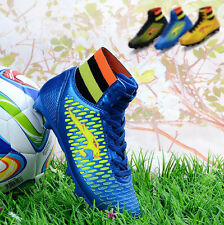 7428 New Kids High Top Athletic Football shoes Boys Soccer Boots Soccer Cleats