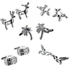 Classic Cufflinks Men's Shirt Wedding Party Gift Cuff Links Silver Jewelry