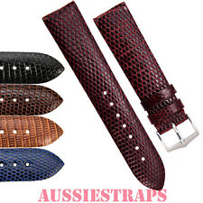Genuine LIZARD Skin Leather Watch Band Strap for Mens and Ladies Classic Watches