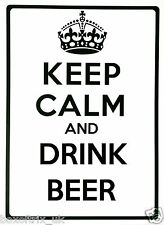 KEEP CALM AND DRINK BEER - Wall Art Vinyl Sticker 17 Colours 2 Sizes