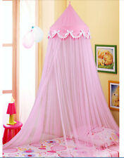 Bowknot Decorative Princess Pink Dome Netting Canopy Fly Insect Twin Queen King