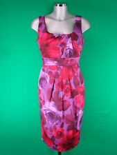 BRAND NEW 40's/50's STYLE ALEXON DEEP RED FLORAL PRINT PARTY DRESS - RRP £123