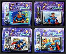 Lot Superman Wristwatch watch and Purses Wallets Party Gifts D22