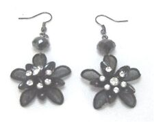 Fashion Silver Floral Mesh Dangling Earrings, NEW!