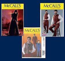 New McCalls Sewing Pattern Mens Cosplay Steampunk Costume McCall's Suit U Pick