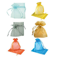 HE519 100- 1 Organza Bags candy bags 7*9cm 6 Colors