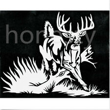 Whitetail Deer buck hunting car truck window vinyl decal graphic sticker
