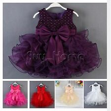 Baby Flower Girl Princess Pageant Wedding Birthday Formal Party Tulle Gown Dress