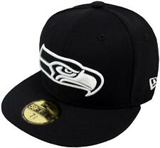 New Era Seattle Seahawks Black White 59fifty Fitted Cap Baseball Limited Edition