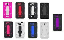 Kickstand Hybrid Phone Cover Case for LG OPTIMUS EXCEED VS840PP / LUCID 4G VS840