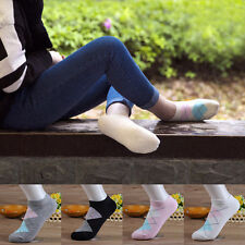 5 Pairs Stylish Women Striped Sock Ankle Low Cut No Show Casual Cotton Socks
