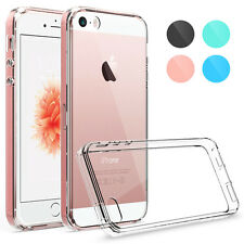 Hybrid Crystal Clear Back Hard TPU Bumper Case Cover for Apple iPhone SE 5S