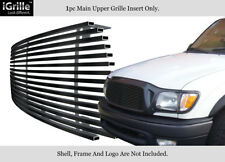 Fits 2001-2004 Toyota Tacoma Center Section Black Stainless Steel Billet Grille