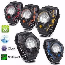 Fashion Mens Digital LED Analog Quartz Alarm Date Sports Wrist Watch Waterproof