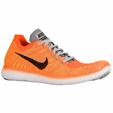 NIKE FREE RN FLYKNIT 2016 LASER ORANGE BLACK MENS RUNNING SHOES **ALL SIZES