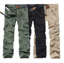 Combat Men's pocket Cotton Cargo ARMY Pants Military Camouflage Camo Trousers
