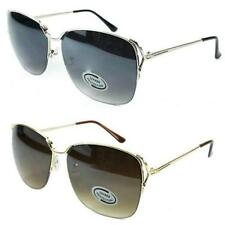 New Womens Ladies Metal Designer Vintage UV400 Semi Rimmed Sunglasses SE26