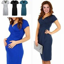 New Women Pregnant Maternity Short Sleeve Casual Dress Cotton Summer Dresses