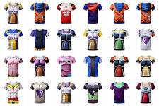 HOT Dragon Ball Z Saiyan Goku Vegeta Costume Cycling T-Shirt Short Sleeve Jersey