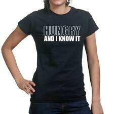 Sexy Hungry And I Know It Funny Gift Ladies T shirt Tee Top T-shirt