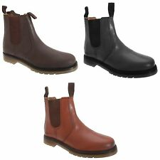 Grafters Mens Plain Leather Chelsea Boots