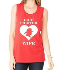 Tank Top Heart Ladies T Fire Fighter Wife Gift Mom S Loose Summer Humor Shirt