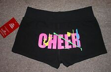 Motionwear Black Hot Pink Cheer Cheerleading Booty Shorts 6316 Women Adult XL