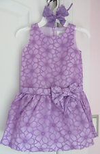 NWT Gymboree Girls Egg Hunt French Lilac Floral Dress/Bow Headband Size 5 6 7