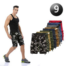 Casual Mens Summer Cotton Army Camo Combat Cargo Shorts Pants Trousers 1/2 *6603