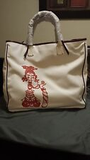 RO BAGS Limited Edition,Cotton Canvas, Swarvoski Crystals Tote Purse Large $300
