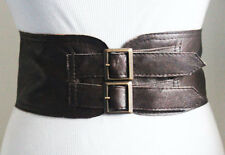 Brown Corset Waist buckle Belt | Leather Buckle Belt | Corset Belt | Plus Size