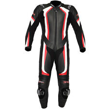 RST R-14 Red Leather One Piece 1PC Motorcycle Motorbike Race Suit - UK40