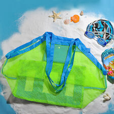 Large Mesh Beach Tote Bag Clothes Kids Toys Carry All Sand Away Beach Bag