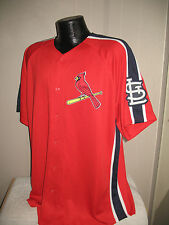 MLB St Louis Cardinals Crosstown Rivalry Variation Jersey Shirt  Nwt Majestic