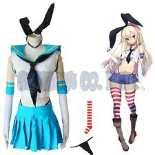 Games Kantai Collection shimakaze sexy women dress Cosplay Costumes Halloween