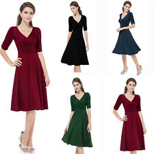 CLASSY AUDREY VINTAGE 1950's ROCKABILLY PINUP SWING EVENING DRESS HEPBURN NEW
