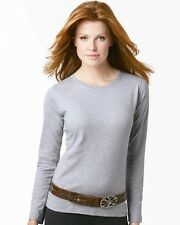 LAT Ladies Long Sleeve Crewneck T-Shirt 3588 S-3XL Cotton