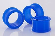 "BLUE Flexible Wholesale Silicone Earlets Painful Pleasures 6g-1"" - Price Per 1"