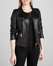 NEW Womens 100% Leather Lambskin Jacket Coat, Made to your Measurements - WJ117
