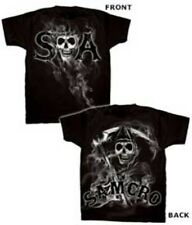 Licensed Sons of Anarchy SOA Soft T-Shirt Tshirt Tee Shirt Reaper Smoke Samcro