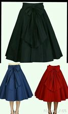 1950s Circle Swing Dance Victorian Gothic Skirt Rockabilly Work Pin Up Retro NO4
