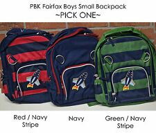 NEW Pottery Barn Kids FAIRFAX BOYS SMALL Backpack stripe rocket PBK mono removed