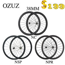 Carbon Road Bicycle Wheelset 4 Hubs Choose 50mm Clincher Tubular Carbon Wheels