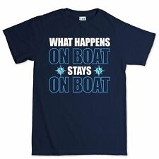 What Happens On Boat Sailing Ship Nautical Anchor T shirt Tee T-shirt