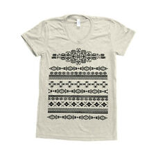 American Indian Pattern Screenprint Women Triblend Track Shirt American Apparel