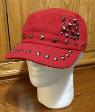 Punk Boy Girl Unisex Studded Rivet Spike Spiky Hip-hop Cap Hat Angela & William