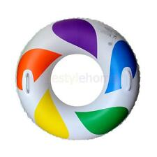 Rainbow Swimming Pool Swim Ring Beach Toys Inflatable Float for Kids Adult Size